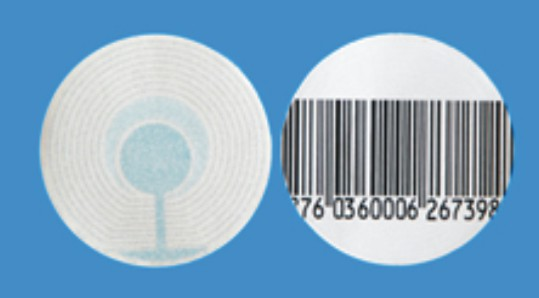 RF Labels (4x4) Round Barcoded