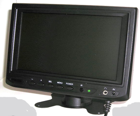 "7"" CCTV LCD BNC Colour Compact Video Monitor"