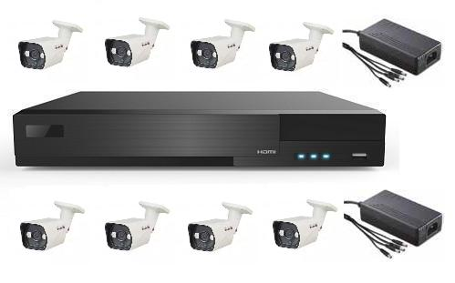 8 AHD IR Bullet Camera System with 16ch HD DVR Unit