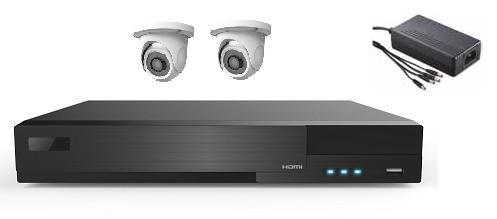 2 AHD IR Dome Camera System with 4ch HD DVR Unit