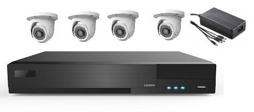 4 AHD IR Dome Camera System with 8ch HD DVR Unit