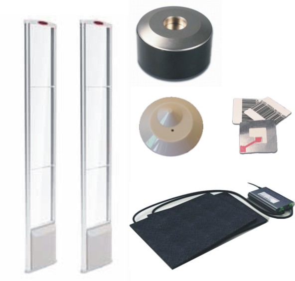 Diamond RF 8.2 Mhz Dual EAS Pedestals + Tags + Labels Package