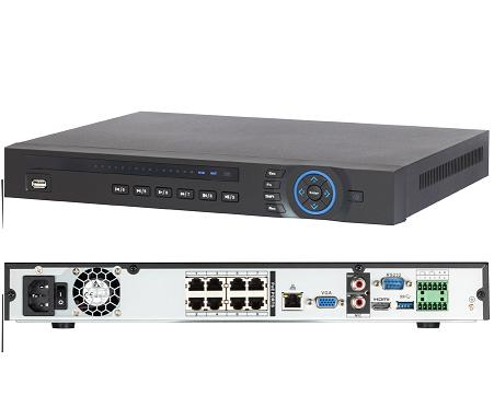 Xus 8ch 5 Megapixel IP Network Video Recorder inc PoE